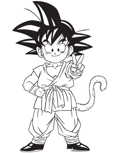 anime dragon ball gohan coloring page   coloring pages