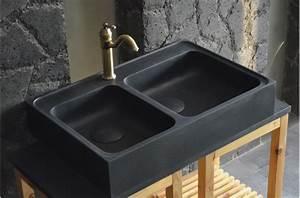 Evier Cuisine En Pierre : vier en pierre pour cuisine karma shadow 90x60 granit ~ Premium-room.com Idées de Décoration