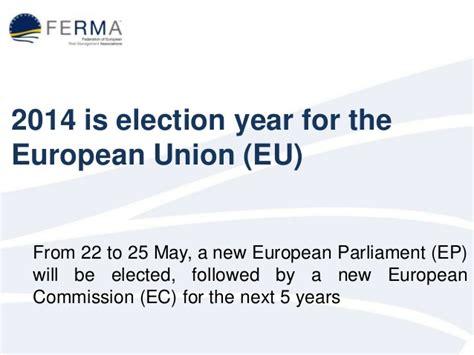 What To Expect Before The European Elections? Ferma