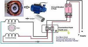 Single Phase Motor Wiring And Controlling Using Circuit Breaker