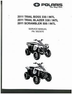 2011 Polaris Trail Boss 330 Trail Blazer 330 And Scrambler