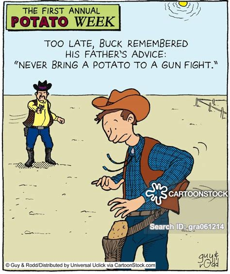 Gun Fight Cartoons and Comics - funny pictures from