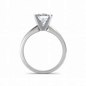 Classic princess cut diamond engagement ring for Princess cut solitaire engagement ring with wedding band