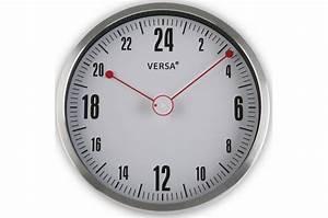 Horloge Murale Grise : horloge murale 24h grise et rouge horloge design pas cher ~ Teatrodelosmanantiales.com Idées de Décoration