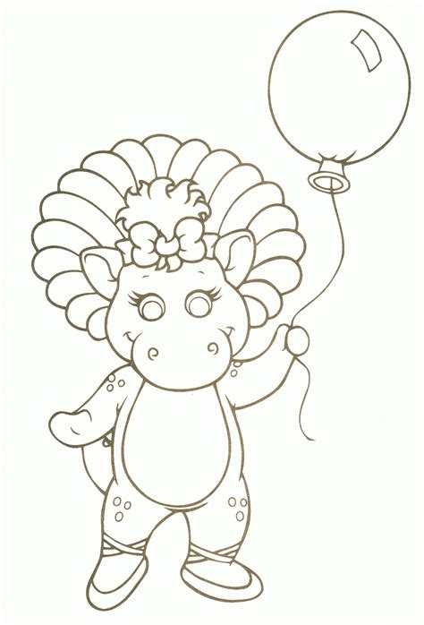 baby bop coloring pages   print