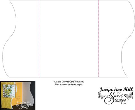 Curved Box Template by Sweetsts Free Template From Sweetsts
