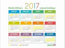 2017 school holidays in South Africa Parent24