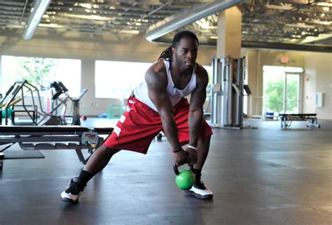 football lateral exercises nfl players workouts kettlebell lunge stack trent doing richardson these cutting edge