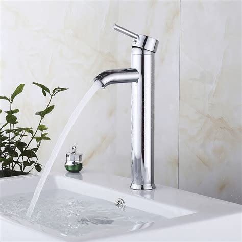 Modern Faucets For Bathroom by 12 Quot Modern Bathroom Lavatory Vessel Sink Faucet Brushed