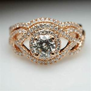 Sale infiniti 1ct diamond 18k rose gold engagement ring for 18k gold wedding ring set