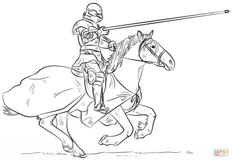 Knight On Horse Coloring Page Free Printable Coloring Pages