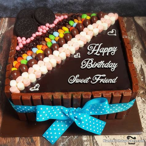 happy birthday sweet friend cakes cards wishes