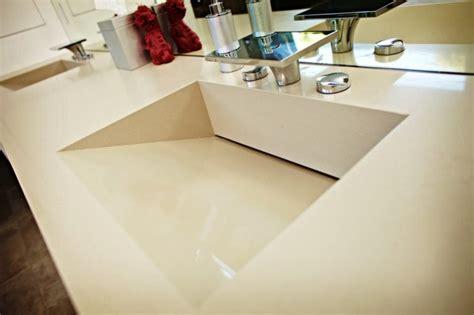 caesarstone quartz vanity top w red sinks
