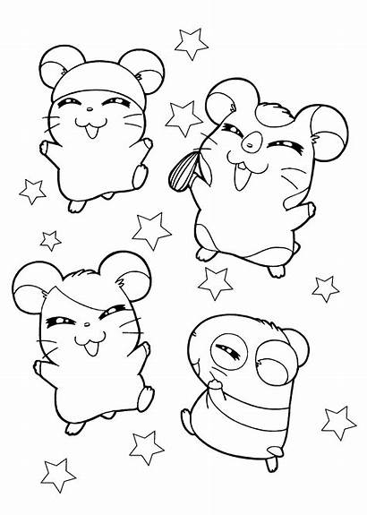 Coloring Hamster Pages Hamsters Happy