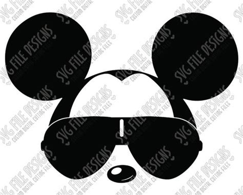 Ho ho ho mickey mouse svg cut file set including svg, eps, dxf, jpeg, and png formats for cricut, silhouette, and brother scanncut machines overview: Cool Mickey Mouse Aviator Sunglasses Cut File Set in SVG ...