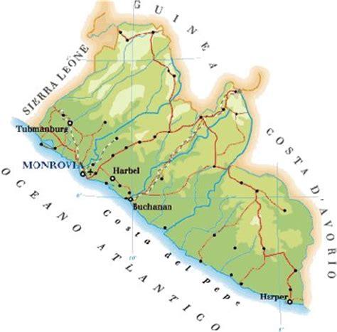Mappa Liberia Cartina