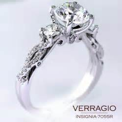 design wedding ring classical three engagement ring design with the stylish twisted band insignia 7055r