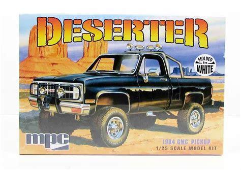 new truck models 1984 gmc pickup deserter mpc 847 1 25 new truck model kit