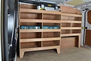 Transit, Custom, Plywood, Offside, Van, Racking, Shelving, Unit