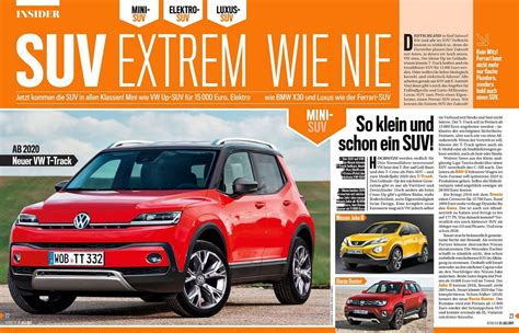 entry level vw  track crossover  launch   report