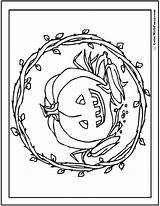 Halloween Coloring Pages Pumpkin Pdf Printable Vine Customizable Bathroom Fall Jack Getcolorings Print December Posted Colorwithfuzzy sketch template
