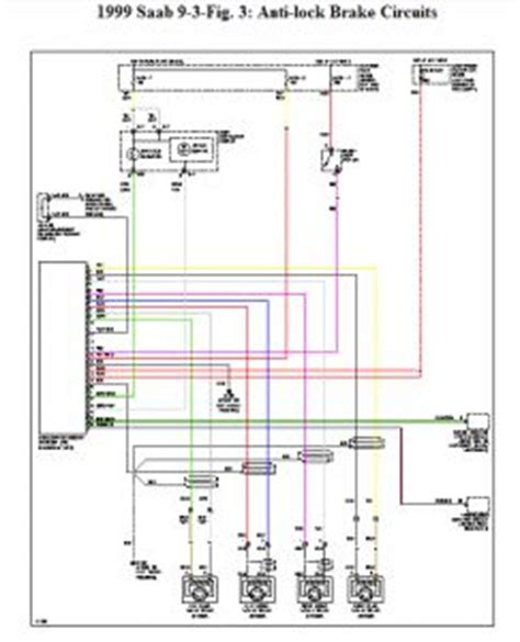 Wireing Diagram For A 1999 Saab 9 3 4 Door 1999 saab 9 3 repair question abs tech ii identified