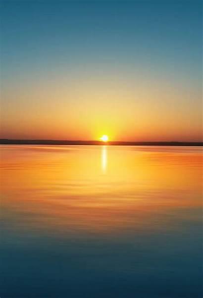 Sunset Wallpapers Ipad Lake Iphone Cool Air