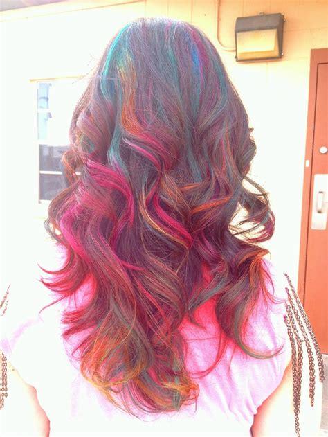 I Love My New Rainbow Highlights My Stylist Used Teal