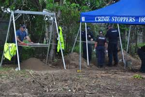 Police Excavate The Backyard Of A House In North Mackay