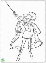 Coloring Pages Barbie Three Musketeers Musketeer Colouring Printable Trending Days Last sketch template