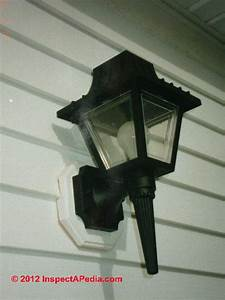 unsafe exterior light fixture inspection defects With install outdoor light fixture on vinyl siding
