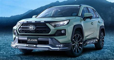 toyota rav gains trd  modellista parts  japan suv