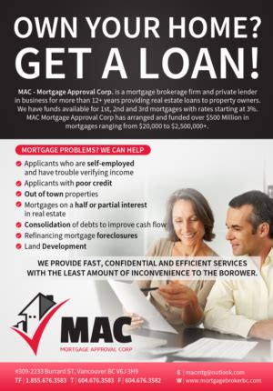 mortgage broker flyer design   mortgage broker