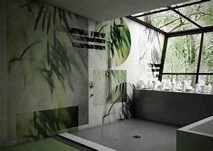 Wasserfeste Tapete Dusche : carta da parati in bagno tra decor floreale e geometrie contemporanee cose di casa ~ Sanjose-hotels-ca.com Haus und Dekorationen