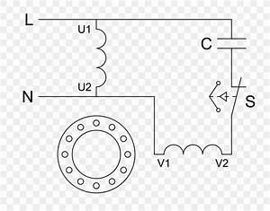 Electric Motor Wiring Diagram Motor Capacitor  Png