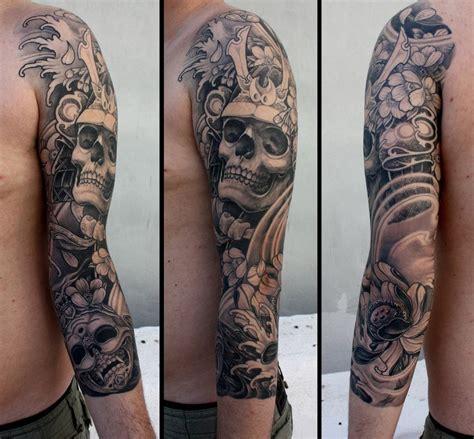 lotus skull japanese sleeve tattoo  tattoo ideas gallery