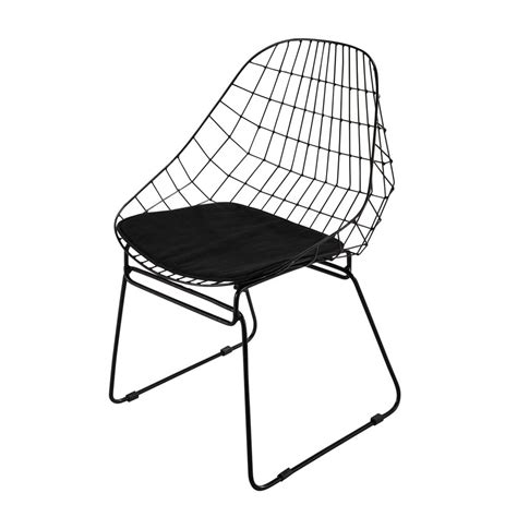 chaise aluminium exterieur metal chair in black orsay maisons du monde