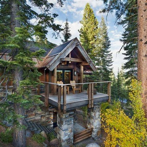 Mountain Log Cabins by 44 Farmhouse Balcony Ideas Design Spaces House Cabin