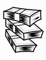 Money Coloring Stack Clipart Clip Bills Printable Stacks Drawing Drawings Tattoo Dollar Cliparts Play Bill Preschool Keywords Similiar Printing Wikiclipart sketch template