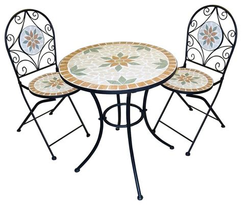 mosaic bistro table and chairs mosaic bistro set with two chairs indoor pub and bistro