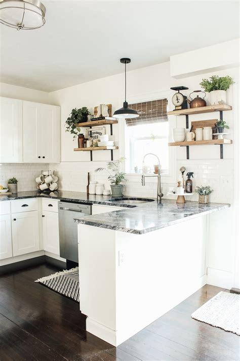 modern farmhouse kitchen makeover reveal micheala diane