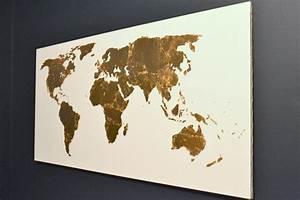 Pinterest Challenge: Gold Leaf Map Art • Ugly Duckling House