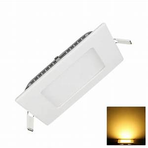 Recessed led ceiling panel light flat bedroom square