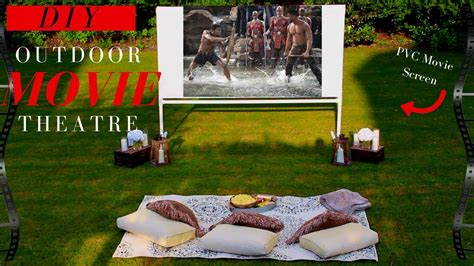 diy projector screen backyard  theatre decor ideas
