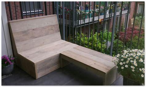 kleine bank für balkon balkon loungebank gebruikt steigerhout op eigen houtje meubels