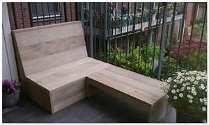 Balkon Bank Klein : balkon loungebank van gebruikt steigerhout op eigen houtje ~ Michelbontemps.com Haus und Dekorationen