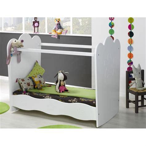 chambre bébé roumanoff k roumanoff lit plexi 60 x 120 cm éa blanc achat