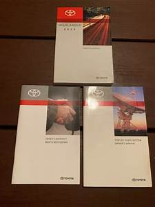 2013 Toyota Highlander Owners Manual Oem Free Shipping