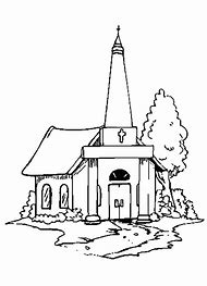 Country Church Coloring Pages