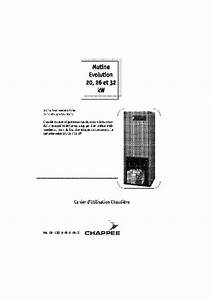 Chaudiere Fioul Chappee Notice : notice chappee mutine cf 26 kw chaudi re trouver une solution un probl me chappee mutine cf ~ Melissatoandfro.com Idées de Décoration